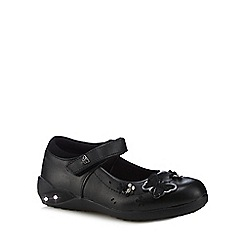 Debenhams - Girls' black leather light up Mary Jane school shoes