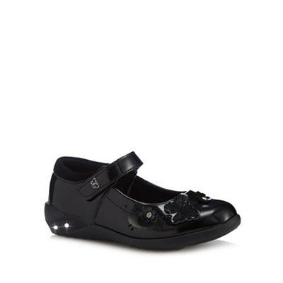 Debenhams - Girls' black patent light up Mary Jane school shoes
