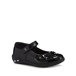 Debenhams - Girls' black patent light up Mary Jane school shoes