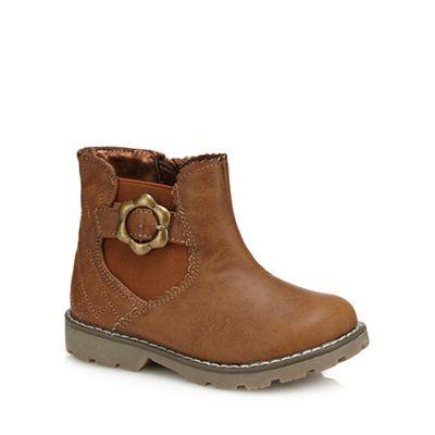 bluezoo - Girls' brown biker boots