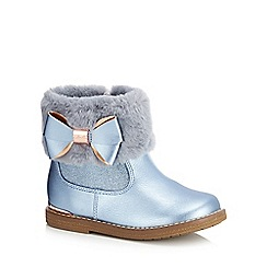 Baker by Ted Baker - Girls' blue faux fur cuff ankle boots