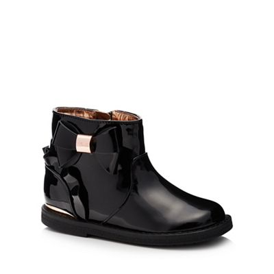 Baker by Ted Baker - Girls' black patent boots boots boots 308924
