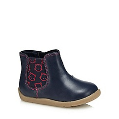 bluezoo - Girls' navy 'First Walker' boots