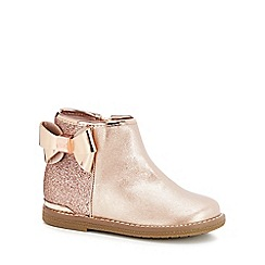 9ff68ccff3c0d Baker by Ted Baker - Girls  pink glitter ankle boots