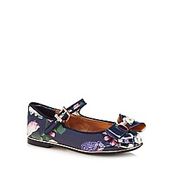 Baker by Ted Baker - Girls' navy patent 'Kensington' pumps