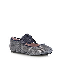 J by Jasper Conran - Kids' navy glitter Mary Jane shoes
