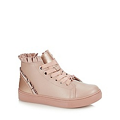 Baker by Ted Baker - Girls' Pink Frill Trim High Top Trainers