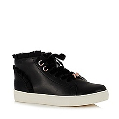 Baker by Ted Baker - Girls' Black Frill Trim High Top Trainers