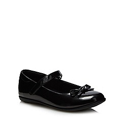Debenhams - 'Girls' black patent ballet pump school shoes