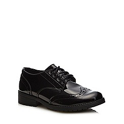 Debenhams - Girls' black patent brogue school shoes