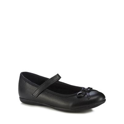 f77b13075381 Debenhams -  Girls  black leather ballet pump school shoes