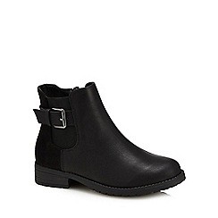 bluezoo - Girls' black buckle detail Chelsea boots
