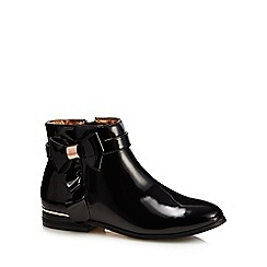 7bc97ce4f Baker by Ted Baker - Girls  black patent ankle boots