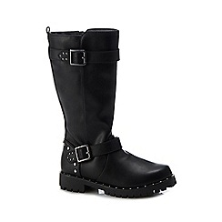 bluezoo - Kids' black studded knee high boots