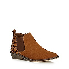 bluezoo - Girls' tan Chelsea boots