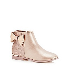 Baker by Ted Baker - Girls' pink glitter ankle boots