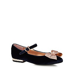 Baker by Ted Baker - Kids' navy velvet pumps