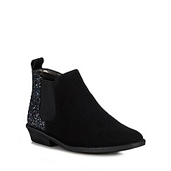 bluezoo - Girls' Black Glitter Heel Chelsea Boots