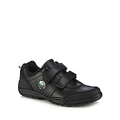 Debenhams - 'Boys' black light up trainer school shoes