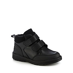 Debenhams - 'Boys' black boot school shoes