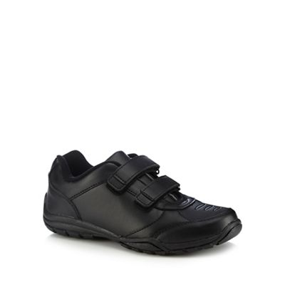 Debenhams - 'Boys' black 2 tab trainer school shoes