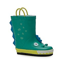 bluezoo - Kids green dinosaur wellies