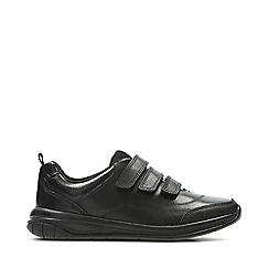 Clarks - Boys' black leather 'Hula Thrill' school shoes