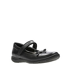 Clarks - Girls' black leather 'Venture Star' Mary janes