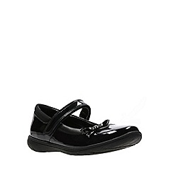 Clarks - Girls' black patent leather 'Venture Star' Mary janes