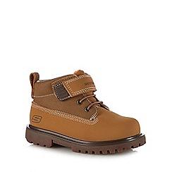 Skechers - Kids' tan 'Mecca Bolders' boots