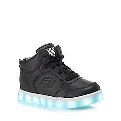 Skechers - Kids' black 'Energy Lights' high top trainers
