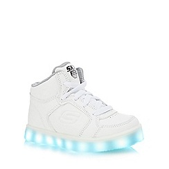 Skechers - Kids' white 'Energy Lights' high top trainers