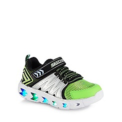 Skechers - Kids' silver 'Hypno-Flash 2.0' light up trainers