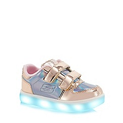 Skechers - Kids' gold 'Energy Lights' light up trainers