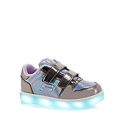 Skechers - Kids' silver 'Energy Lights' light up trainers