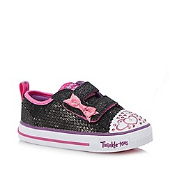Skechers - Kids' black 'Shuffles Itsy Bitsy' trainers