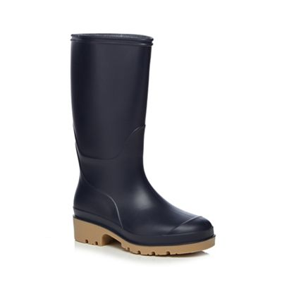 bluezoo - Boy's navy wellies Fashionable and eye-catching shoes
