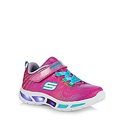 Skechers - Girls' pink 'gleam n' dream' light up trainers