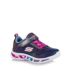 Skechers - Girls' navy 'gleam n' dream' light up trainers