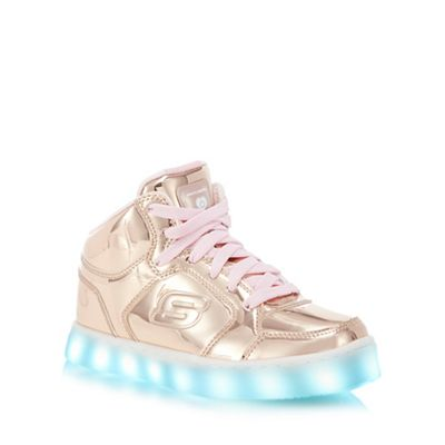 Skechers Kids Gold Energy Lights Light Up High Top Trainers