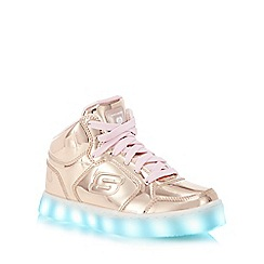 Skechers - Kids' gold 'Energy Lights' light up high top trainers