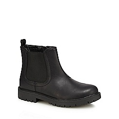 bluezoo - Boys' black Chelsea boots