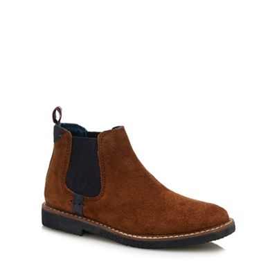 Baker By Ted Baker   Kids' Brown Leather Chelsea Boots by Baker By Ted Baker