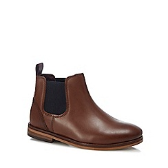 Baker by Ted Baker - Kids' tan leather Chelsea boots