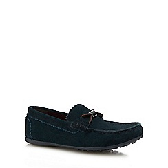 Baker by Ted Baker - Boys' dark turquoise suede driver shoes