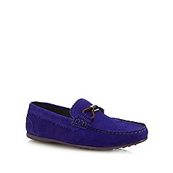 Baker By Ted Boys Blue Suede Driver Shoes