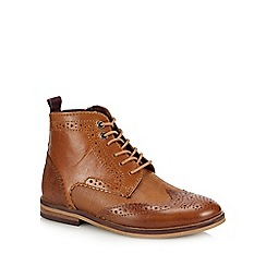 Baker by Ted Baker - Kids' Tan Leather Brogue Boots