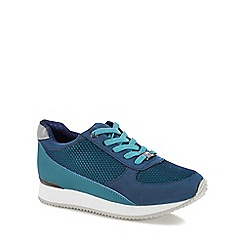 Baker by Ted Baker - Kids' blue colour block trainers