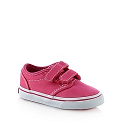 Vans - Girl's pink rip tape canvas trainers