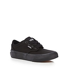 Vans - Boy's black classic canvas trainers
